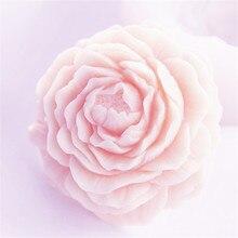 3D Цветочная форма для мыла, силиконовая форма для торта, свечи, сделай сам, ремесло, пион, формы для мыла