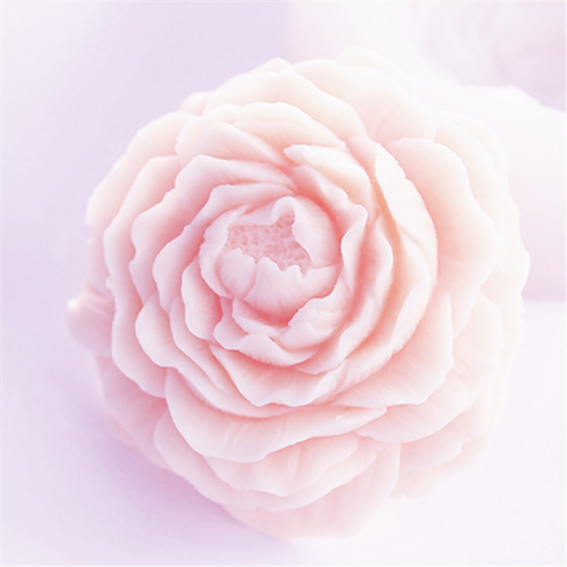 3D Flower Soap Mold Silicone Cake Candle Mould DIY Craft Peony Soap Making Molds