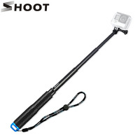 SHOOT 19 49cm Extendable Selfie Stick Monopod For Gopro Hero 5 4 HERO5 Session Xiaomi Yi