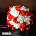 Nuevos 2016 Hermosas Flores de Perlas de Cristal de Flores de La Boda Ramo de Novia Damas de Honor Ramos De Novia Artificiales Accesorios