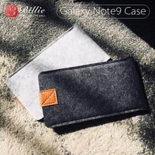 For Samsung Galaxy Note9 Case Woolen Felt Phone Cases For Samsung Note 9 cases Cover Mobile Phone Handmade bags  6.4inch gray