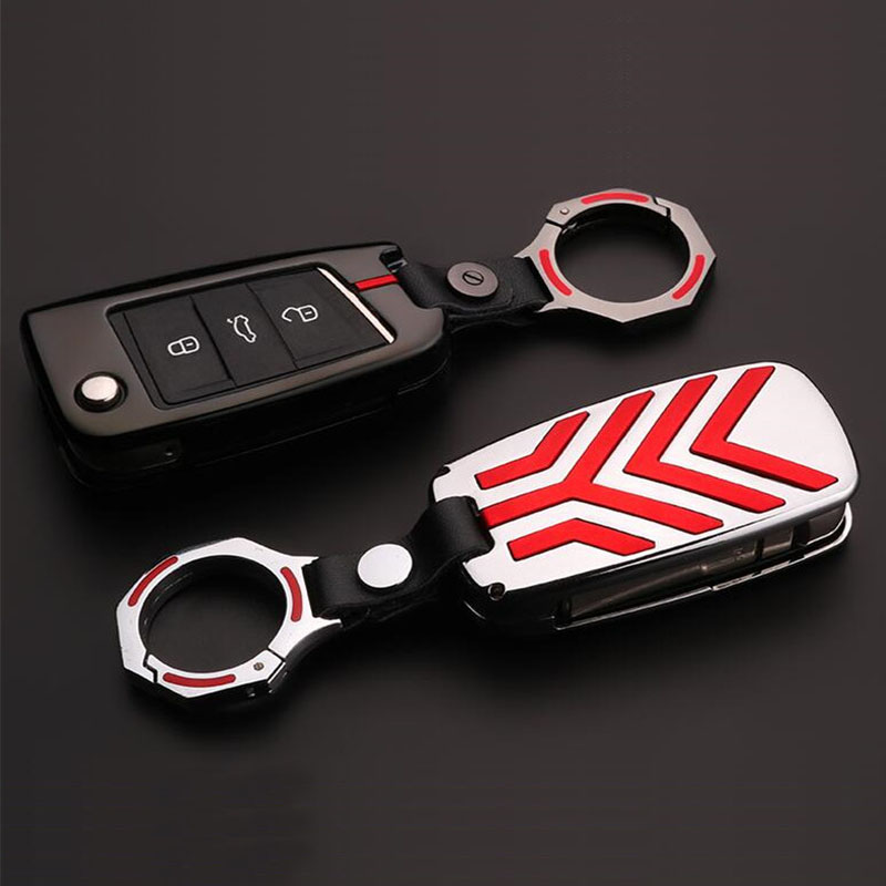 New Zinc Alloy Car Key Cover Case For Volkswagen VW Golf 4 5 6 7 MK7 GTI Passat B5 B6 Jetta mk5 mk6 Touran Polo Tiguan 2009-2015 2 x car decoration stickers car decals for volkswagen vw golf polo sagitar jetta tiguan gti