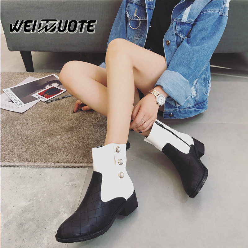 New ankle boots for women heels shoes woman short boots winter boots women crystal botas feminina ladies shoes Chelsea boots enmayla new women slip on chelsea boots suede black crystal ladies ankle boots for women round toe med heels shoes woman