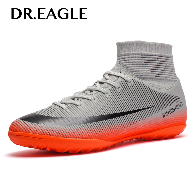 32d1c4a4b2 Men Indoor Turf Soccer Shoes Sneakers Men Cleats Crampons Superfly  Breathable TF