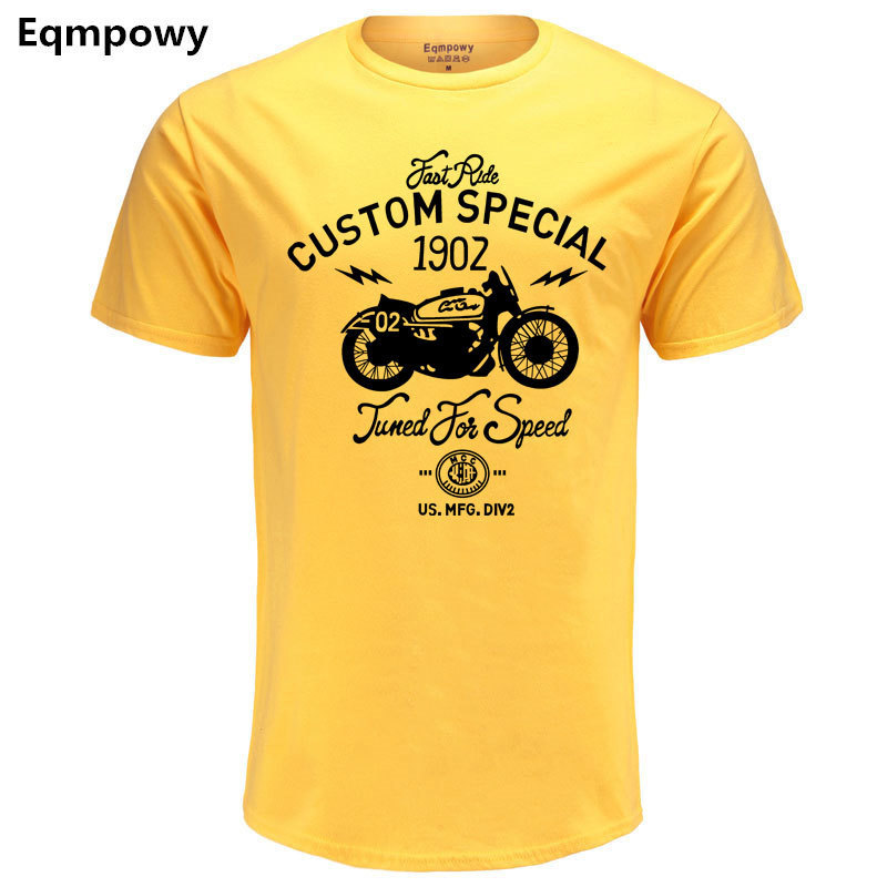 Eqmpowy 100% COTTON tee shirt short sleeve mens t-shirt print casual men tshirt custom special print men t shirt clothing geo print short sleeve t shirt
