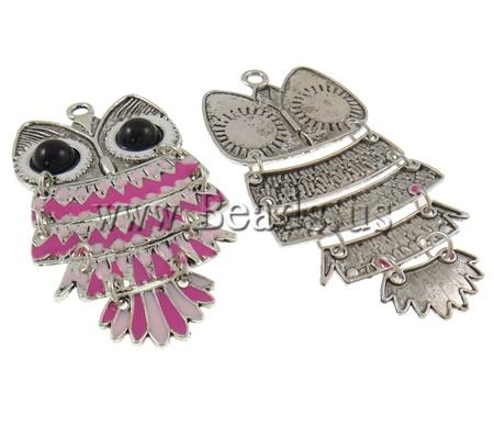 !!Zinc Alloy Animal Pendants,Cheap Jewelry Fashion, Resin, Owl, antique silver color plated, enamel, nickel - Being Hot-Girls store