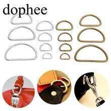Dophee 20 шт винтажное металлическое d-образное кольцо пряжки для одежды Сделай Сам Рукоделие багаж швейная сумка ручной работы кошелек ручные кнопки LW0366