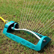Oscillating Sprinklers Lawn Irrigation Adjustable 15-hole Watering Sprinkler Sprayer Yard System Garden Tool