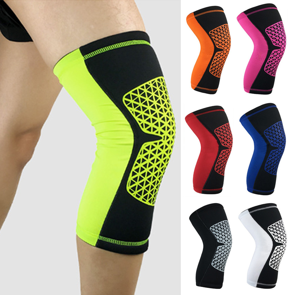 Grid Pattern Sports Short Knee Protectors Running Basketball Protective Gear LFSPR0007