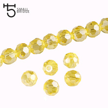 6mm Czech Mixed Color Faceted Round Glass Beads for Jewelry Making Supplies Women Diy Perles Spacer Crystal Beads Wholesale Z174