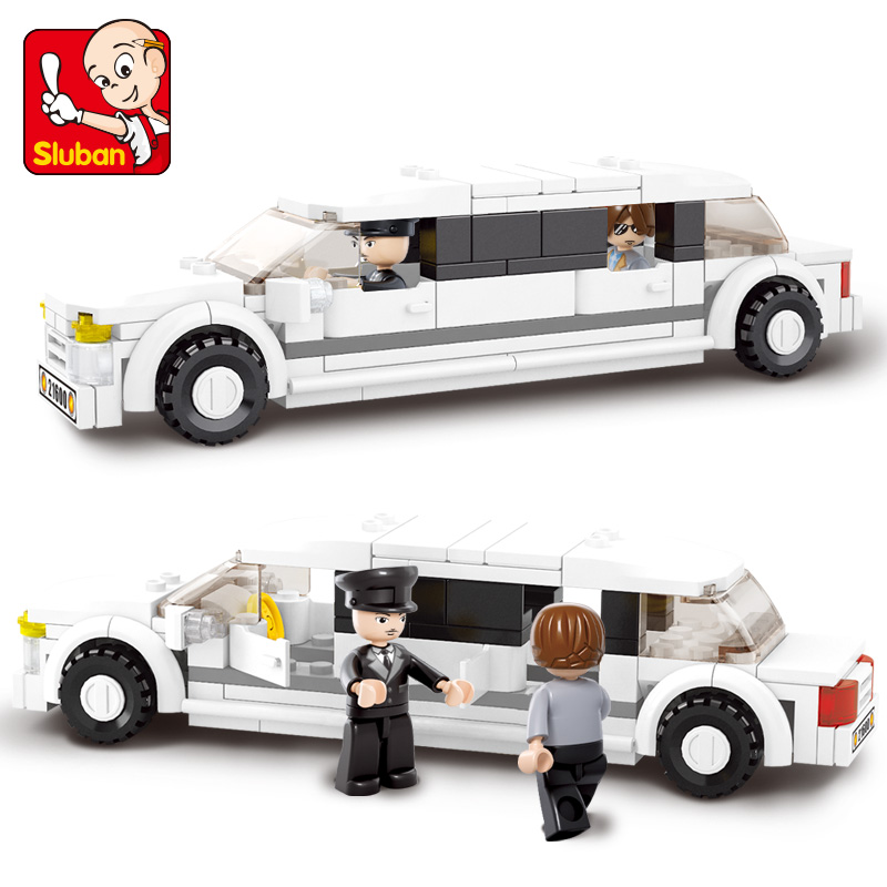 S Model Compatible with B0323 135pcs Luxury Limousine Models Building Kits Blocks Toys Hobby Hobbies For Boys Girls