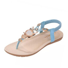 bohemian beaded women flat sandals clip toe brand quality sexy sandals fashion ladies shoes size 36-42 WA0062