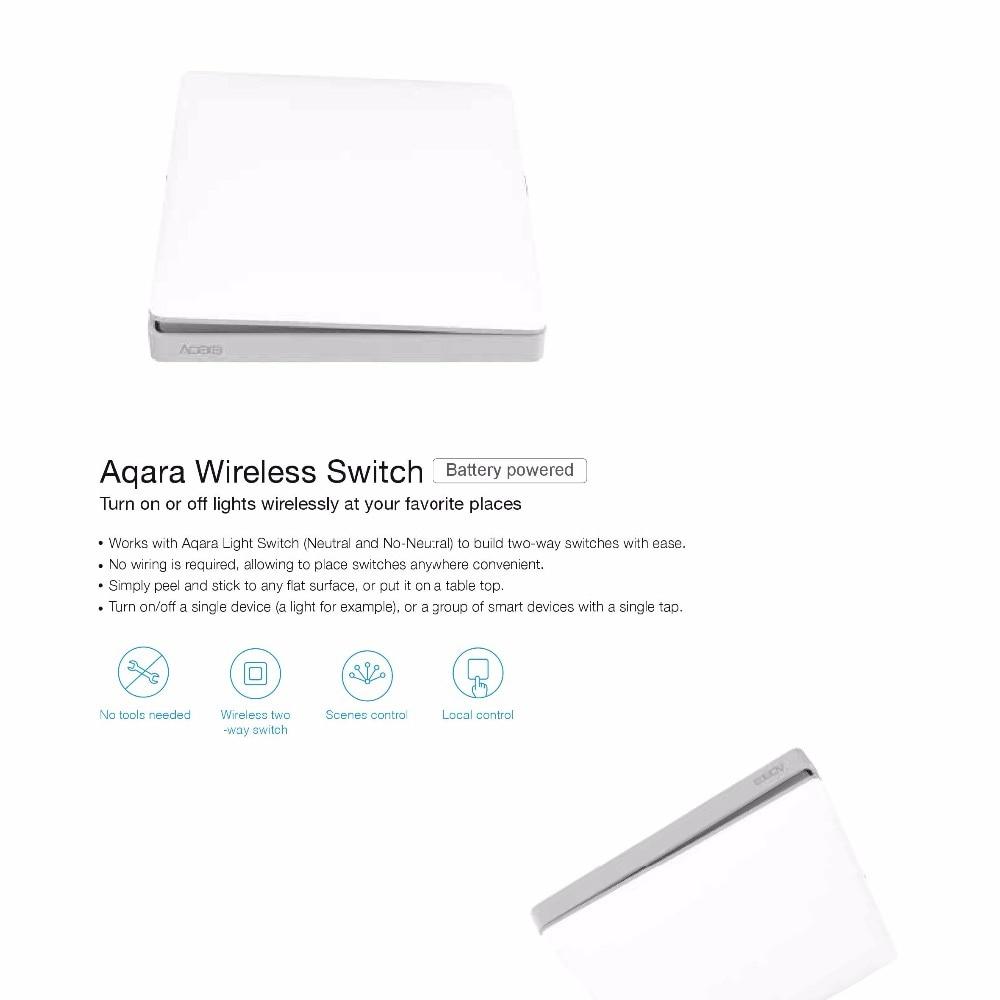 Xiaomi Aqara Light Switch ZigBee No Neutral Version Single Double Key  Button Smart Home for MiHome APP MIJIA Gateway Hub Upgrade