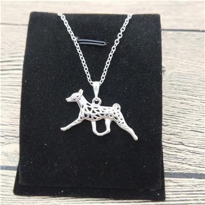 Sterling Silver Basenji Dog Pendant