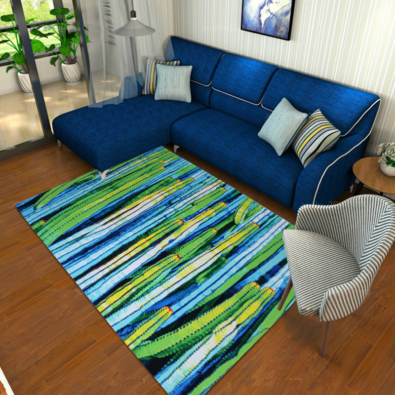 Moderne minimaliste salon motifs géométriques tapis doux anti-dérapant chevet couverture tapis de haute qualité polyester tapis de sol