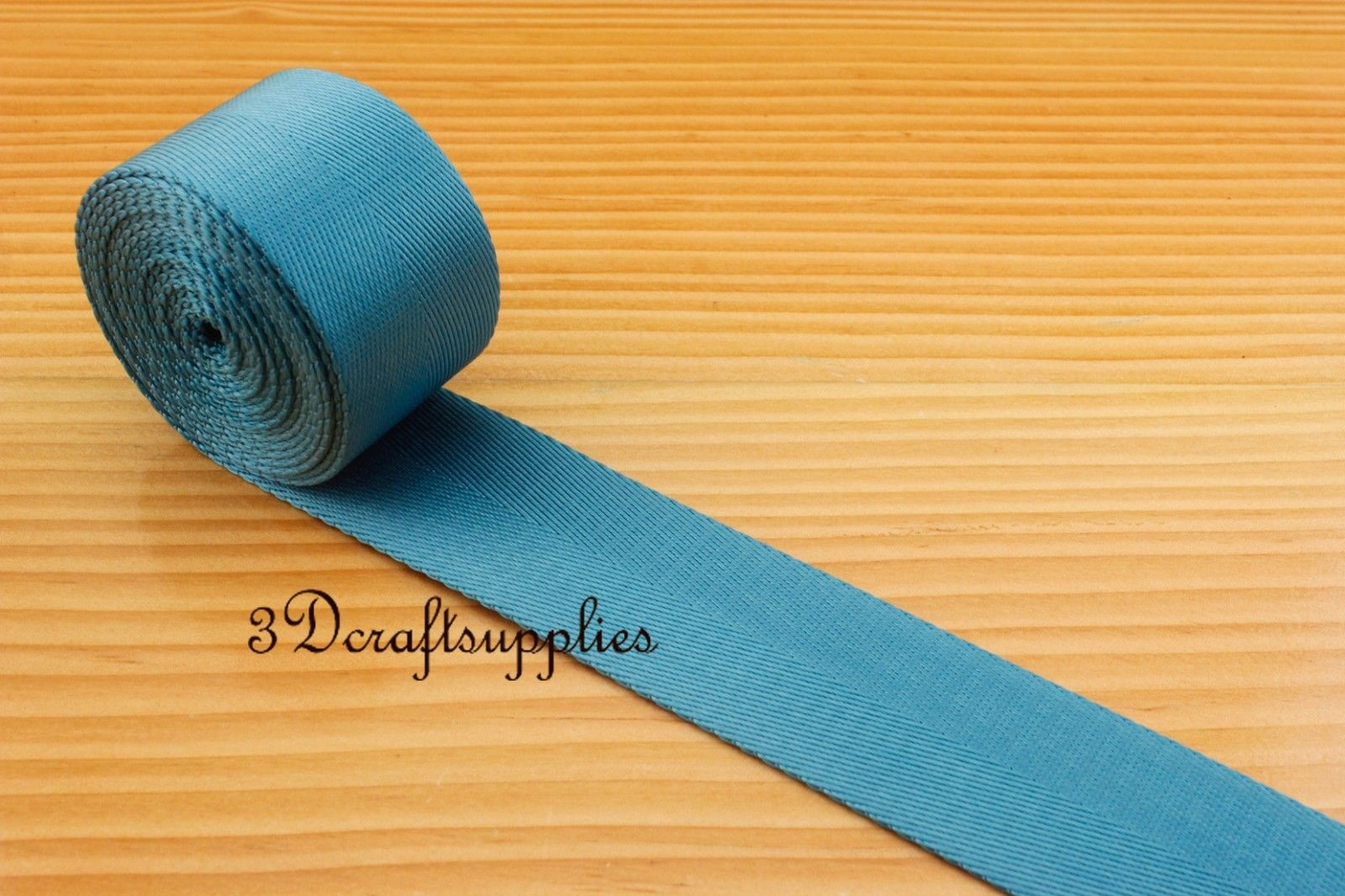 5 Yards 1.5 Inch(38mm) Heavy Weight Nylon Webbing For Key Fob Strap BLUE ZA92