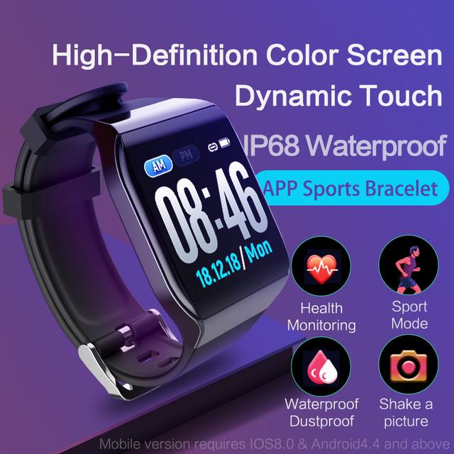 Fitness Tracker Smart Bracelet, Blood Pressure Monitor,  KSS901 IP68S Smart Watch, Waterproof, Tracks Speed, Heart Rate, Temperature, Sleep, Free Shipping