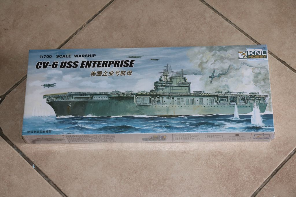 knl hobby 1  700 scale warship cv 6 uss enterprise xc80902 trumpeter mini hobby models
