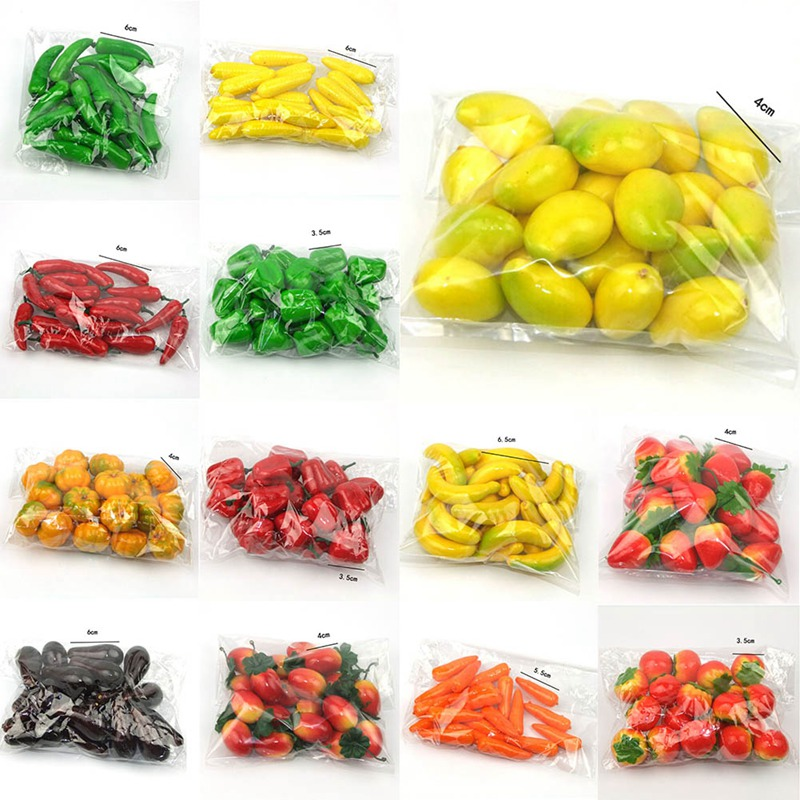 Artificial Fake Fruit Simulation Fruits Plastic Vegetables House Party Kitchen decor Toy For Girls Gift
