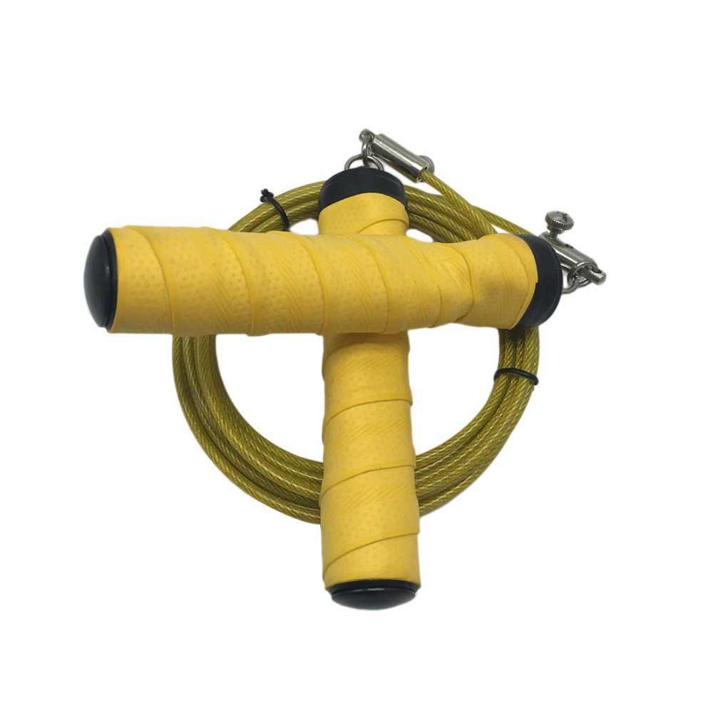Kawat Baja Melompat Kecepatan Tali Lompat Tali CrossFit Lompat Tali Tali Kebugaran Solid PVC Lapisan Karet Bantalan Disesuaikan Kecepatan Tinggi cabl