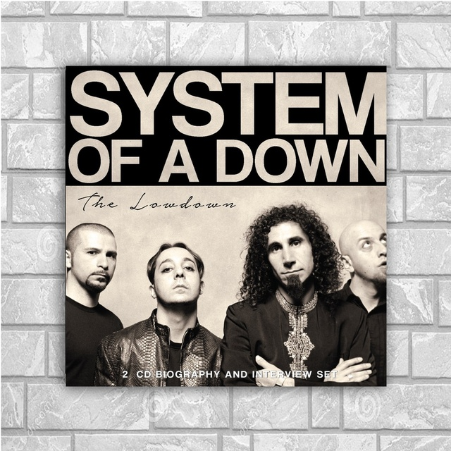 system of a down art silk poster home decor 12x12 24x24inch