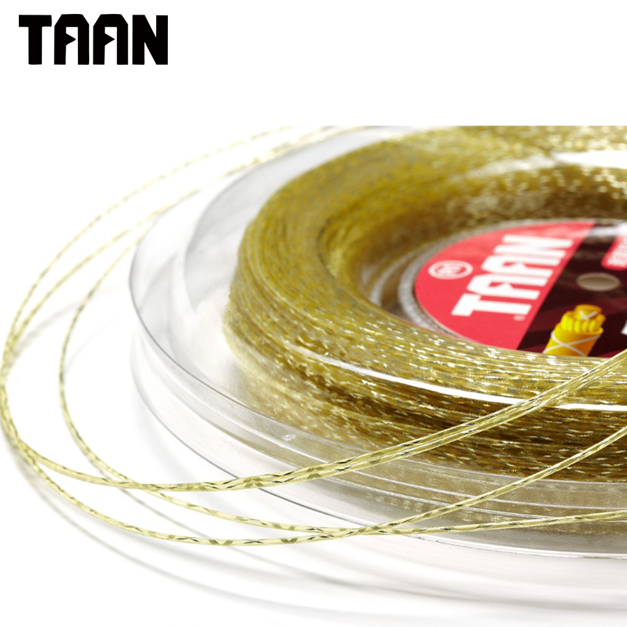 TAAN Synthetic Flash 1.3mm Tennis Racket String 200 Meters Reel Training Tennis Sport Big Yellow Tennis Strings free shipping geo synthetic hexagonal nylon soft tennis racket string reel tsb 03