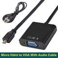 Brankbass 1080 p micro hdmi a vga adaptador convertidor de audio para hd hdtv pc portátil para raspberry pi 3
