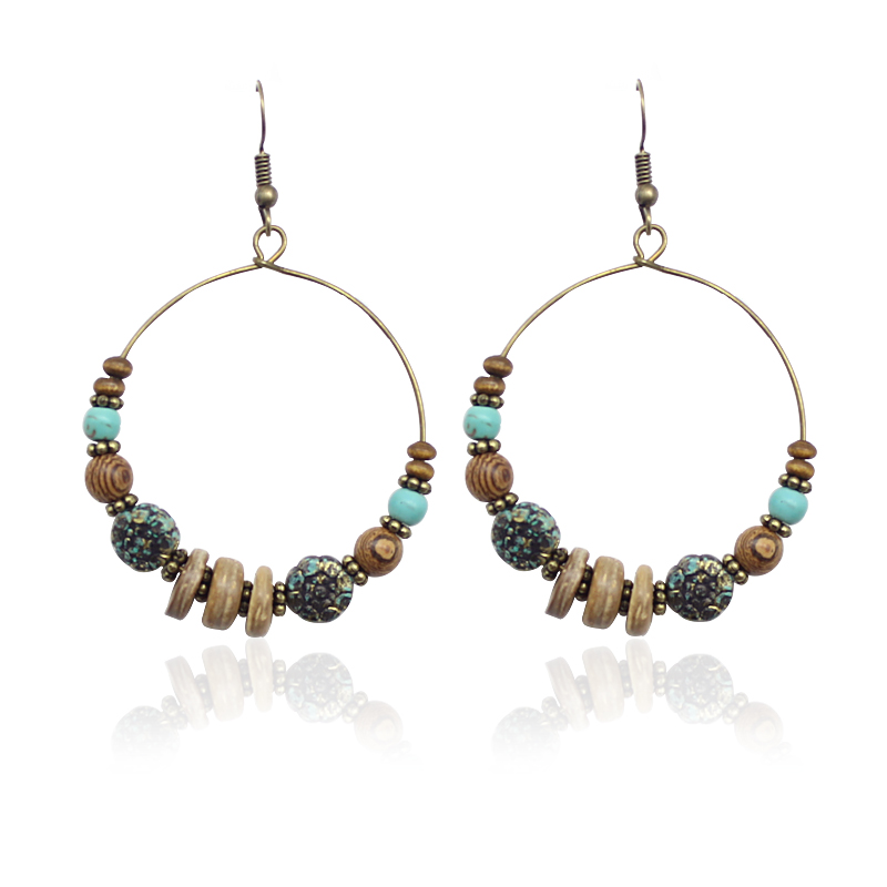 Creative Beads: Earrings Round Creative Beads Drop Earrings Exaggerated