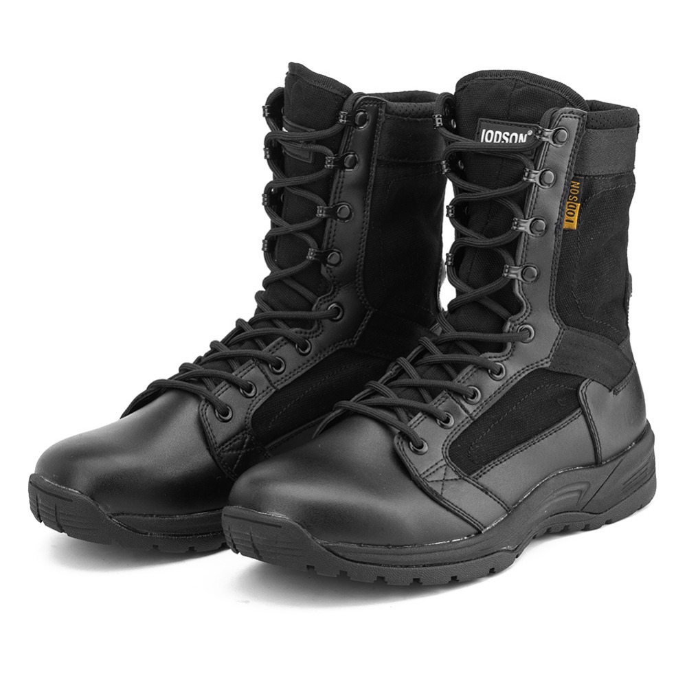 Winter/Autumn Men's Desert Military Tactical Boots Lightweight Men Outdoor Combat Army Boots Black Special Force Shoes IDS831