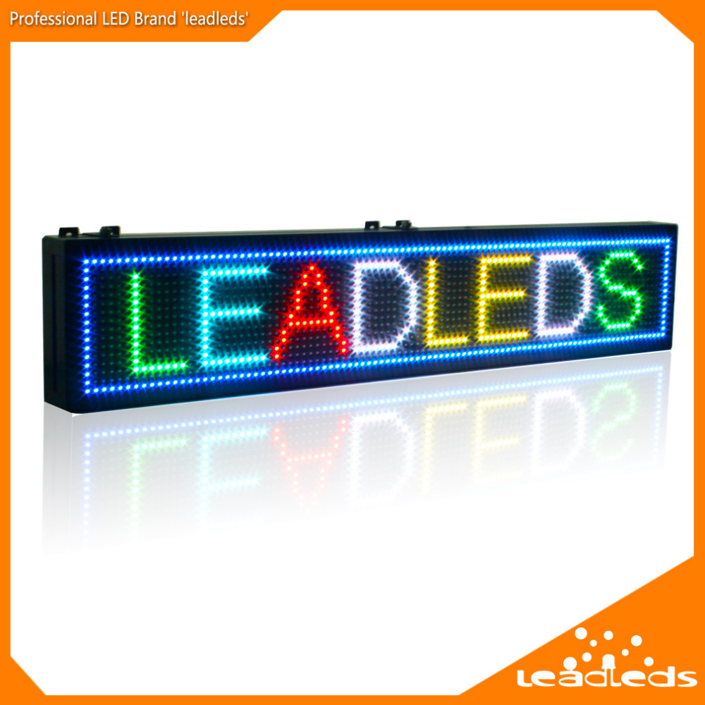 RGB Full color led message moving sign board