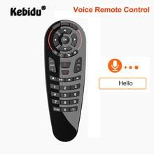 Kebidu-mando a distancia G30S 2,4G, inalámbrico por voz, Air Mouse, 33 teclas, sensor giroscópico de aprendizaje, mando a distancia inteligente para juego, Android Tv Box