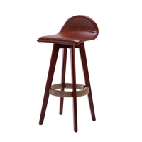 Wood Bar Chair Desk Stool Chair High Fashion Creative European Bar Chair Wood Simple High Foot