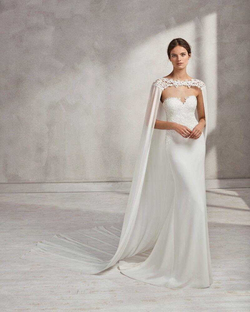 Wedding Bridal Long Cloak White , Ivory Bridal Dress Cape Chiffon Shawl with Lace Wraps Jacket-in Wedding Jackets / Wrap from Weddings & Events    3