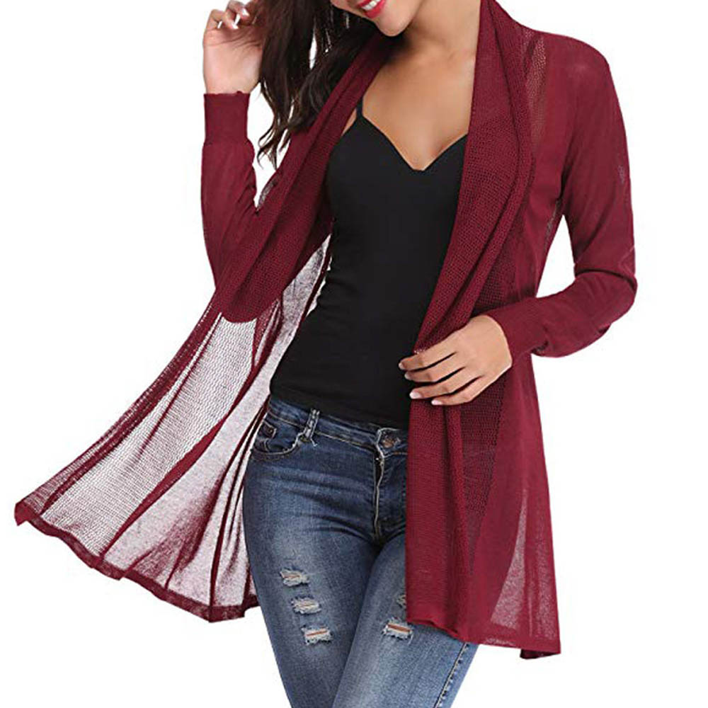 Women Autumn Spring Jacket Solid Sexy V Neck Long Sleeve Fashion Loose Coat Femme Regular Clothes Plus Size Black Red White