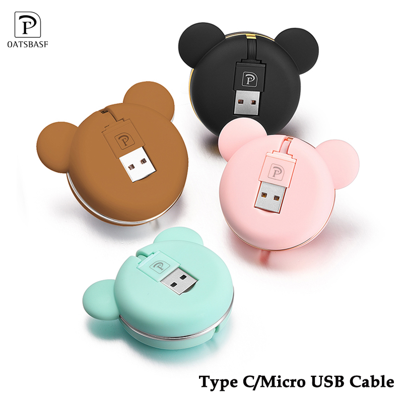 Retractable usb <font><b>cable</b></font> For one plus 5T <font><b>Samsung</b></font> S9 plus <font><b>cable</b></font> USB Type C/ Micro USB Port For one plus 6 <font><b>Samsung</b></font> s9 Xiaomi Mi Mix <font><b>2</b></font> image