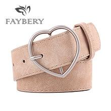1757b112183 Mode coeur forme métal boucle ceintures pour femmes Western Cowgirl ceinture  haute qualité marron en cuir