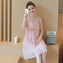 Spring  Short Lace Patchwork Maternity Dress