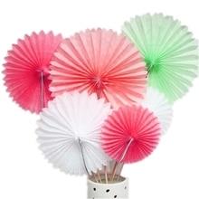 1pc 35cm Tissue Paper Pinwheels Fan  Hanging Decoration Birthday Party Wedding Baby Showers Home Romantic Decor