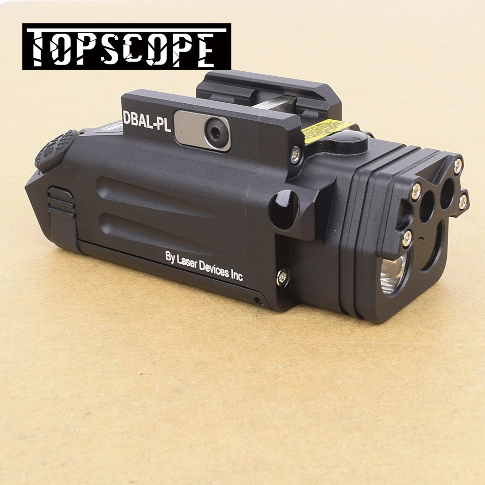 DBAL-PL Tactique Chasse Combo Lumière Blanche LED 400 Lumens Meilleur Pistolet de Poche Avec Laser Rouge et Illuminateur IR