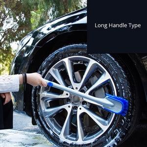 Image 4 - 3 Size Multi Functional Car Tyre Cleaning Brush Tire Wheel Rim Hub Brushes Auto Washer Vehicle Body Surface Wheel Scrub  Cleaner