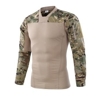c84ed2fb8cc Product Offer. Новый 2018 Тактический футболка Для мужчин камуфляж с  длинным рукавом в стиле милитари рубашка быстросохнущая ...