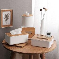 Creative Tissue Box Wooden Lid Plastic Boxes Napkin Holder Tissue Box Cover For Napkins Home Decoration Kitchen