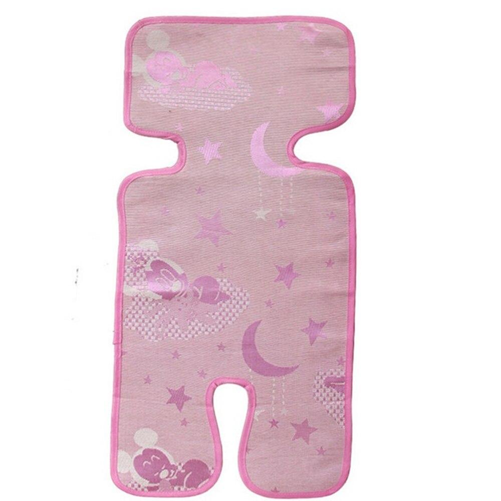 Детская подушка для стула коврик для коляски охлаждающий коврик тонкий мягкий 74*34 см поверхность: шелк льда волокно для детской коляски сохраняет прохладу Лето поставка - Цвет: pink