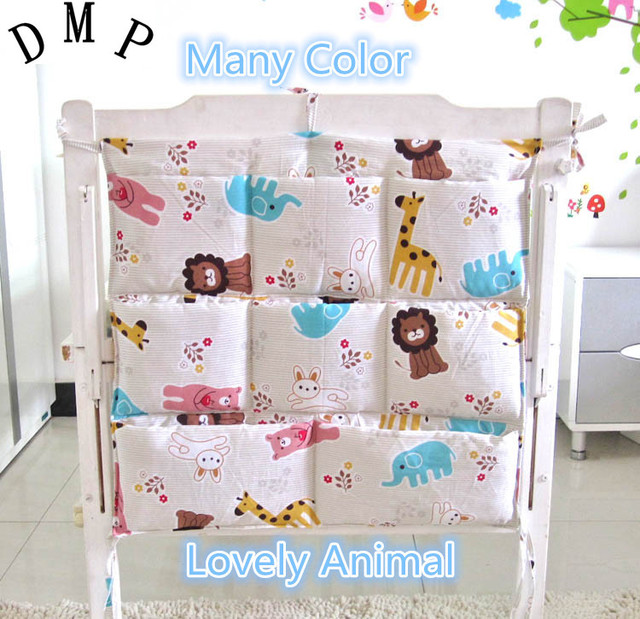 Promotion!  Cartoon Baby Storage Bag,Free Shipping,Baby Cribs Bedding Sets,Storage Hanging Bags for Baby Bed
