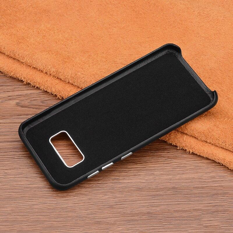 Untuk Samsung Galaxy S8 Ditambah Kasus Penutup Mewah Kulit Asli Keras - Aksesori dan suku cadang ponsel - Foto 5