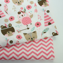 50x40cm Kids Cartoon Cotton print fabric DIY sewing uphostery craft for Baby&Children Quilting Sheets Dress Material
