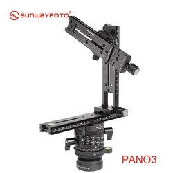 SUNWAYFOTO PANO-3 panoramiczny statyw do lustrzanki 360 panoramy profesjonalne aluminium panoramiczny głowica kulowa statywu