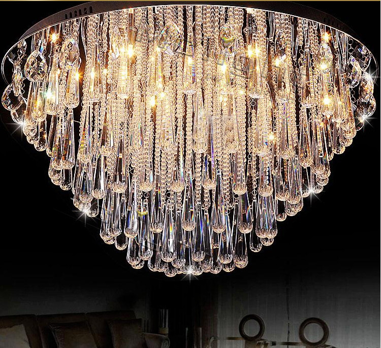 Art lamp Modern Luster Crystal Chandelier Lights Faixture For Foyer Bedroom Hotel Project Flush Mounted Restanrant Led G4 Lamp
