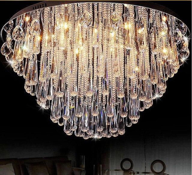 modern chandelier foyer. Art Lampu Kilau Kristal Modern Chandelier Siram Mounted Restanrant Faixture Untuk Foyer Bedroom Hotel Proyek