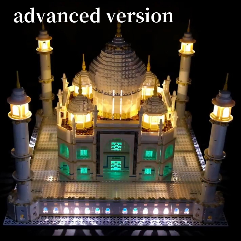 цена на LED Light Kit for lego 10189/10256 and 17001/17008 The taj mahal Building Blocks Bricks Toys Gift (only lights with Battery box)